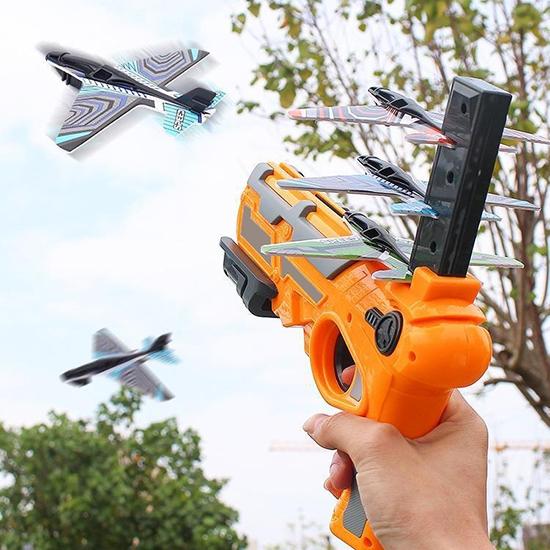 玩具槍 飛機槍 彈射飛機槍 噴射飛機槍 泡棉飛機 噴射 玩具 飛機發射器 飛機彈射槍【R039】慢思行