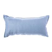 格紋編織腰靠枕30x60cm 藍