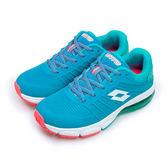 LIKA夢 LOTTO 專業KPU氣墊慢跑鞋 鳳凰展翼系列 水藍 5286 女