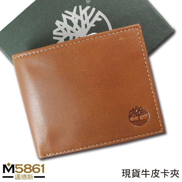 【Timberland】男皮夾 短夾 牛皮夾 多卡夾 大鈔夾 品牌盒裝/棕色