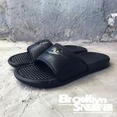 Nike Benassi JDI 全黑 黑字 拖鞋  運動 男 (布魯克林) 2018/7月 343880-001
