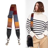 民族風包帶配件彩色寬包帶肩帶斜背包寬撞色寬包帶 青木鋪子