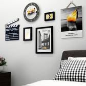 照片牆相框牆客廳臥室書房辦公室創意裝飾畫時鐘相框懸掛簡約現代WY 「名創家居生活館」