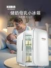 儲奶小冰箱車載母乳專用迷你家用嬰兒存奶小型儲存迷小宿舍冷凍箱 果果輕時尚