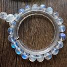 李福生斯里蘭卡天然藍月光石手鏈冰種水晶手串 女款飾品彩月光石手鏈ins小眾設計9mm單圈
