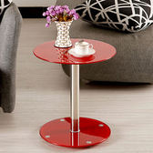 鋼化玻璃小圓桌客廳沙發邊幾圓形迷你小茶几簡約現代臥室床頭桌子WY【全館免運】