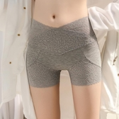 2條裝新款高腰蕾絲安全褲 防走光女士灰色打底褲薄款大碼胖mm短褲