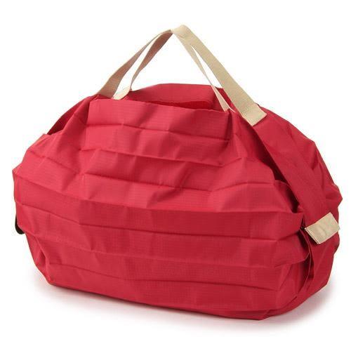 日本 MARNA Shupatto 紅色輕量口袋包/環保購物袋/耐重/快速摺疊收納-正版