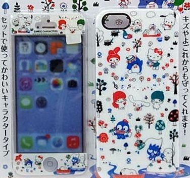 Sanrio Characters 大集合系列 iPhone5S/5 保護殼+前貼 套裝 -64300200