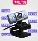 電腦攝像頭 免驅帶麥克風主播高清夜視直播台式筆記本通用USB視頻 CY潮流站