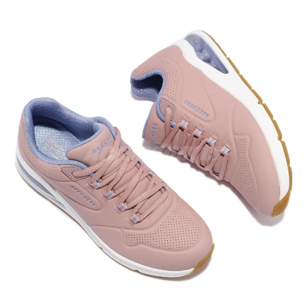 Skechers 休閒鞋 Uno 2-2nd Best 粉 藍 女鞋 氣墊 增高 運動鞋 【ACS】 155542MVE