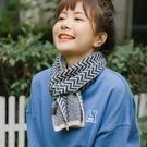 圍巾 日系春秋冬季可愛短薄款保暖小圍巾 韓版學生針織少女百搭復古ins 快速出貨