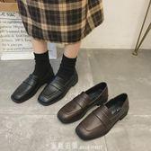 復古英倫學院風潮方頭百搭ins小皮鞋女春新款超火樂福單鞋 「米蘭街頭」