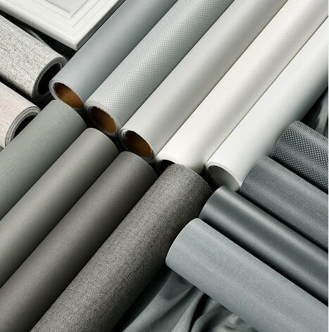 灰色10米壁紙牆紙自黏防水防潮臥室男孩衣柜子桌面家具翻新牆貼紙 電購3C