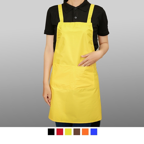 【晶輝團服制服】LS-0115*水蜜桃純色圍裙