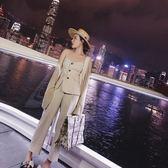 現貨JW OL條紋吊帶馬甲無袖時尚兩件套裝