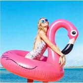 【超取299免運】紅鶴鳥造型泳圈-120公分 成人 充氣浮圈救生圈加大加厚泳圈
