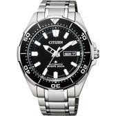 【送米奇電扇】CITIZEN 星辰 PROMASTER 限量鈦200米潛水機械錶-黑x銀/43.5mm NY0070-83E