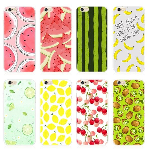 [24H 台灣現貨] iPhone 6 7 s plus 手繪水果 iPhone7 手機殼 創意 軟膠套 手機套
