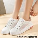FINDSENSE品牌 夏秋款 新款 日本 女 高品質 清新學院風 小白鞋  網