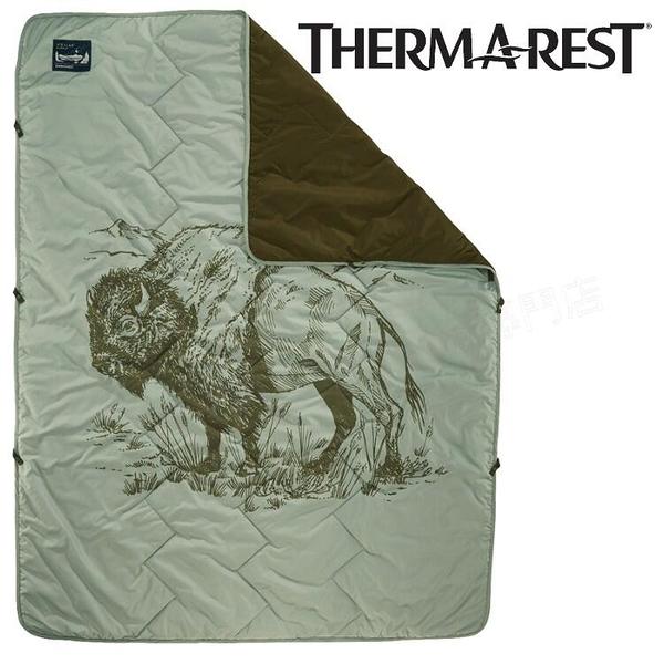 『VENUM旗艦店』Thermarest 保暖毯/露營毯子/蓋毯/旅行毯 Stellar 美洲野牛 13179