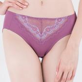 思薇爾-花芷緹舞系列M-XXL蕾絲中腰三角內褲(嫣紅紫)