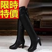 過膝馬靴-撫媚大方皮革女長靴62l18【巴黎精品】