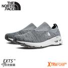 【The North Face 男 輕量便鞋《灰白》】3RDX/休閒健行鞋/懶人鞋/針織徒步鞋/襪套式