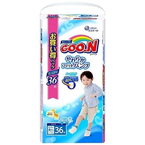 日本 大王製紙 境內版 增量 跳跳褲 拉拉褲 褲型 尿布 36片 男用 (XXL)*3包【1550】