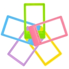 inxtax mini 拍立得底片專用 mini小相框 彩色 迷你相框 五色(入)一組 (顏色隨機出貨)