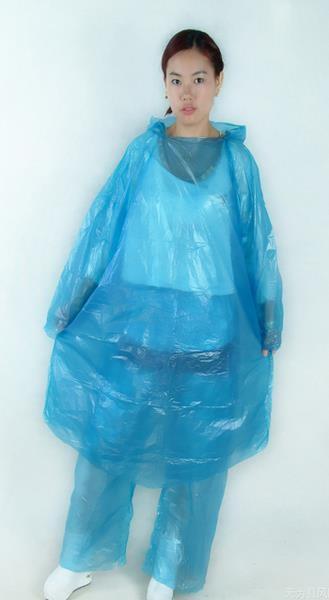 [協貿國際]一次性分體套裝雨衣雨褲男女騎行1入