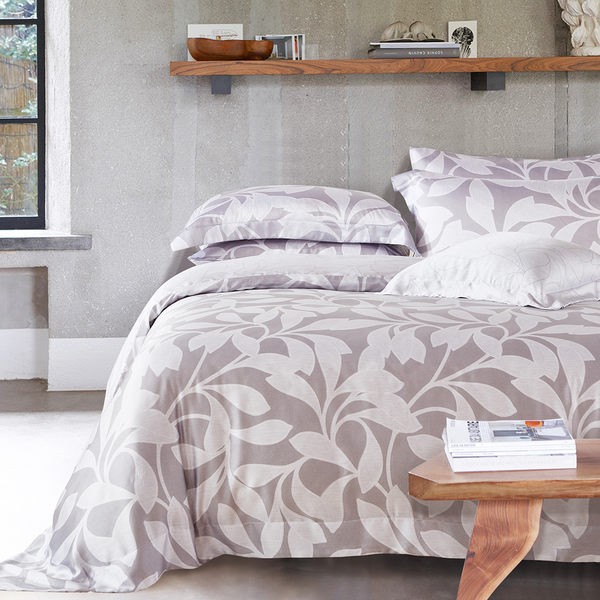 Pure One 天絲系列.TENCEL-靜之語-新時代親膚纖維-加大四件式鋪棉兩用被套床包組