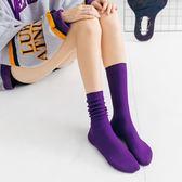 襪子女中筒韓版學院風堆堆襪韓國春秋季百搭薄款秋冬季潮個性長襪【免運直出】