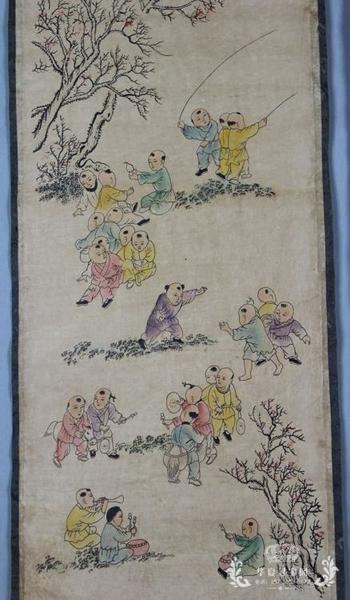 收藏仿古字畫國畫山水畫中堂畫書房裝飾畫已裝裱四條