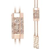 奧地利水晶項鍊-典雅鑲鑽情人節生日禮物女毛衣鍊2色73fv115【時尚巴黎】