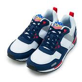 LIKA夢 PONY 繽紛韓風復古慢跑鞋 EMPIRE Campus系列 藍白紅 53M1EP63NB 男  6折好康