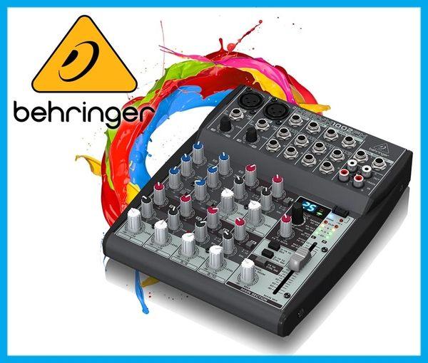 【小麥老師樂器館】Behringer 耳朵牌 10軌 混音器 XENYX 1002FX 效果器 擴大機