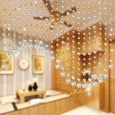 珠簾水晶隔斷簾客廳風水玄關臥室門簾衛生間成品珠簾子裝飾免打孔