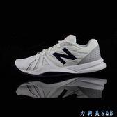 new balance 女網球鞋 白色鞋面+深藍色LOGO  【5705】
