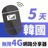 【TPHONE上網專家】韓國網路無限高速4G分享器 5天 一天只要$139
