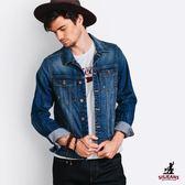 SISJEANS-個性湛藍刷色牛仔外套【15273002】