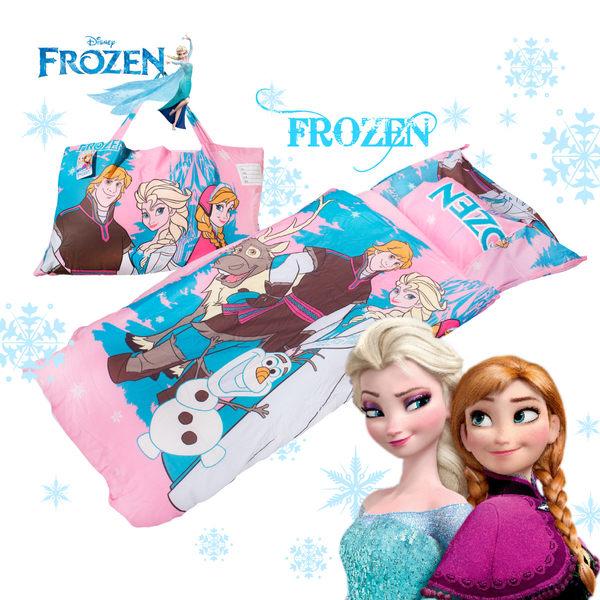 冰雪奇緣 白雪森林 粉 兒童睡袋 標準 台灣製 超取限一顆 伊尚厚生活美學