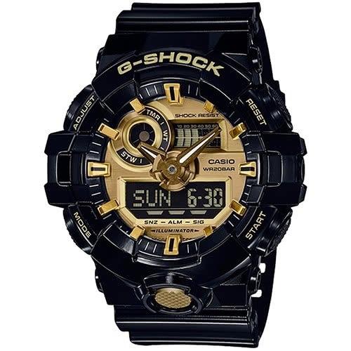 【東洋商行】免運 CASIO 卡西歐 G-SHOCK 金屬光澤感雙顯式運動男錶 GA-710GB-1ADR 手錶 電子錶 腕錶