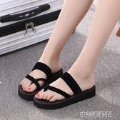 拖鞋 拖鞋女夏時尚外穿厚底百搭個性可愛室內可愛韓版防滑 古梵希