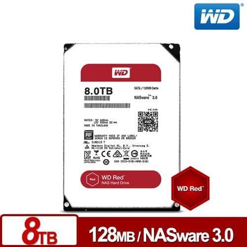 WD80EFZX 紅標 8TB 3.5吋NAS硬碟(NASware3.0)