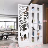 屏風 時尚屏風創意隔斷裝飾櫃簡易客廳房間臥室移動門廳玄關櫃簡約現代RM