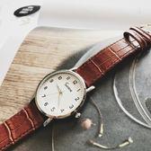 手錶男女學生韓版簡約休閒大氣石英電子錶數字復古防水