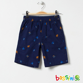 印花輕便短褲02藏藍色-bossini男童