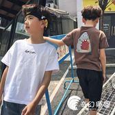 男童短袖t恤韓版2018新款純棉12歲大童半袖11兒童上衣男孩潮童裝-奇幻樂園