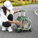 寵物包 寵物拉桿箱貓包外出便攜航空箱透明行李箱狗狗背包小型犬手提籠子 韓菲兒